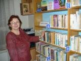 Blanka Kalivodová v knihovně